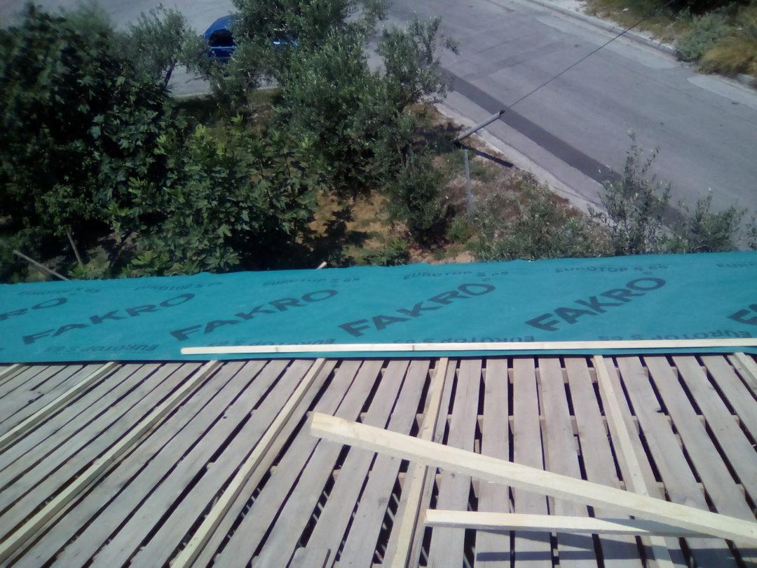 Επισκευή στέγης κεραμοσκεπής