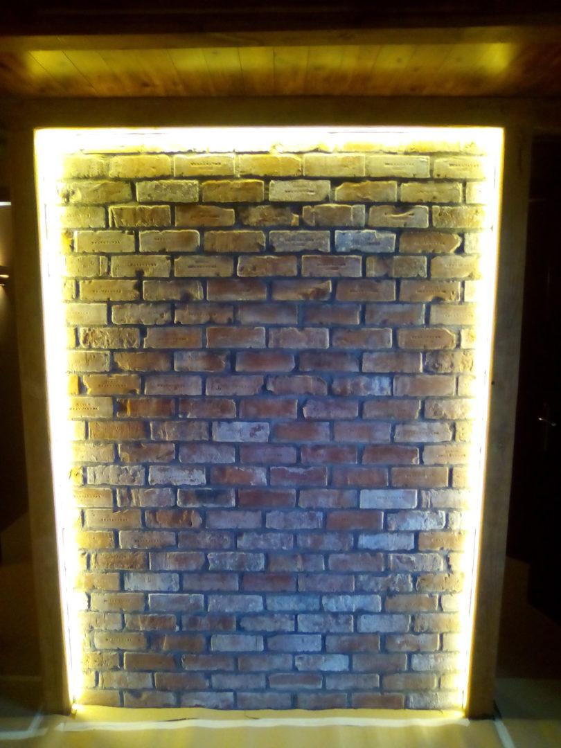 Διακοσμητικός τοίχος – ανακαίνιση καφετέριας