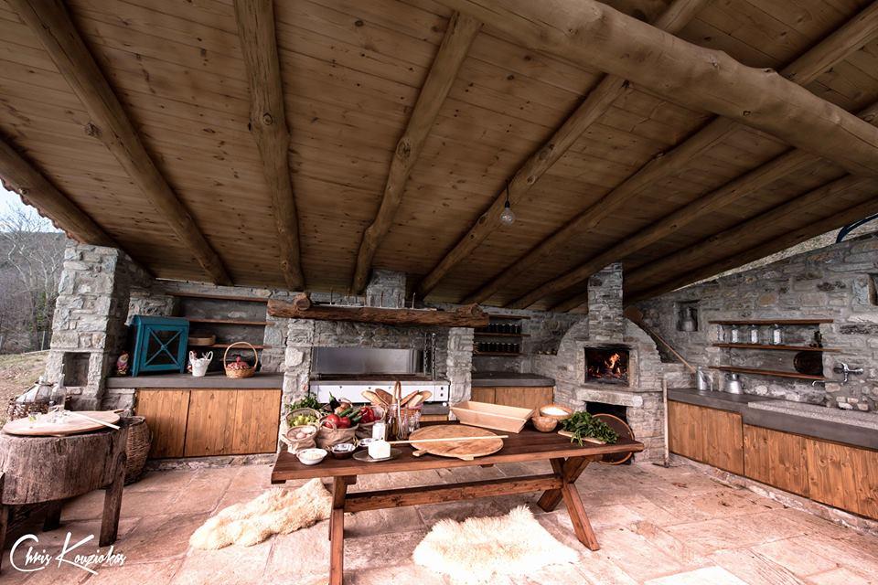 εξωτερική κουζίνα μπαρμπεκιου bbq