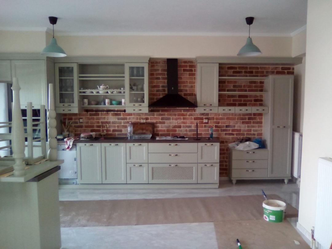 Ανακαίνιση σπιτιού (Βόλος) με τούβλα τσαλαπάτα